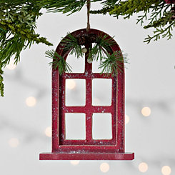 Red Window Arch Ornament