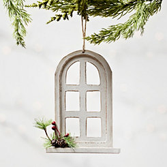 Cream Window Arch Ornament