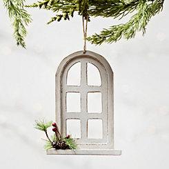 Cream Window Arch Ornament