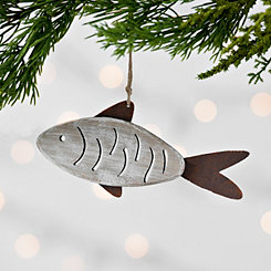 Rusted Fish Ornament