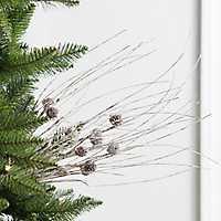 Snowy Pine Cone Bush Tree Pick