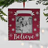 Red Believe Frame Ornament