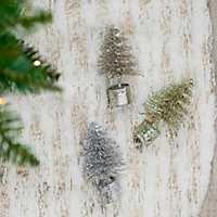 Bottle Brush Tree Ornaments, Set of 3