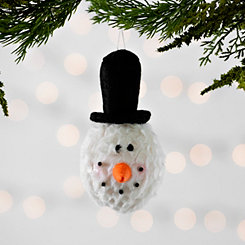Snowman with Black Top Hat Ornament