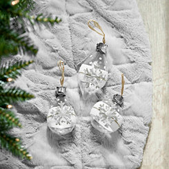 Snowflake Ball Ornaments, Set of 3