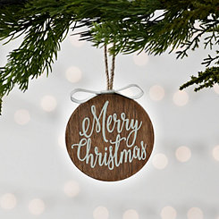 Metal Bow Merry Christmas Ornament