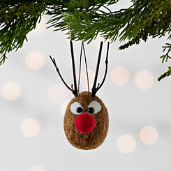 Felt Red Nose Reindeer Ornament
