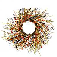 Orange Chinese Lantern Wreath