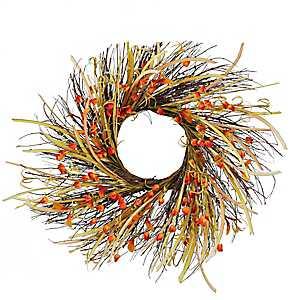 Orange Chinese Lantern Wreath