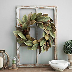 Magnolia and Walnut Wreath
