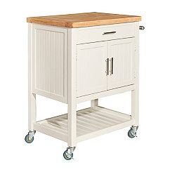 Conrad White Kitchen Cart