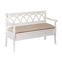 White Elliana Storage Bench