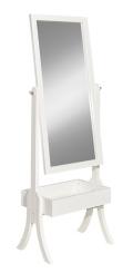 White Holland Cheval Mirror