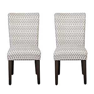 Gray Diamond Parsons Chairs, Set of 2
