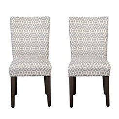 Gray Diamond Parsons Chairs, Set of 2