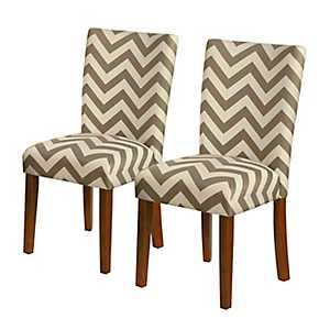 Chevron Parsons Chairs, Set of 2