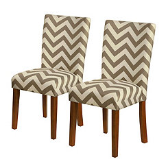 Chevron Parsons Chairs, Set of 2