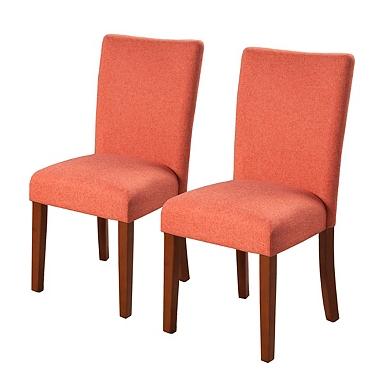 Orange Parsons Chairs Set Of 2