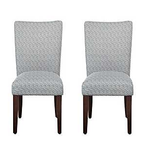 Blue Shades Parsons Chairs, Set of 2