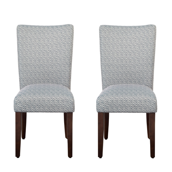 Beau Blue Shades Parsons Chairs, Set Of 2
