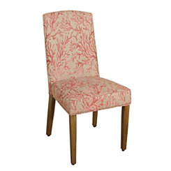 Coral Curved Top Parsons Chair