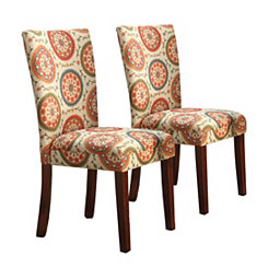 Medallion Parsons Chairs, Set of 2