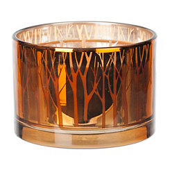 Metallic Orange Pumpkin Candle
