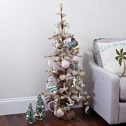 Frosted Coastal Pine Tree, 48 in.