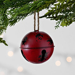 Metal Red Bell Ornament