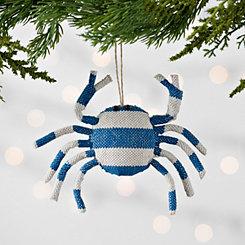 Blue Striped Crab Ornament