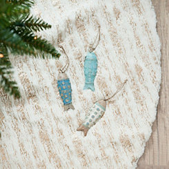 Clay Fish Hanging Ornaments, Set of 3