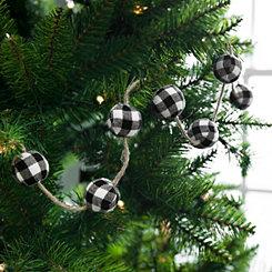 White and Black Buffalo Check Christmas Garland