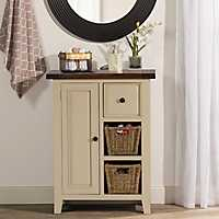 Country White Two Shelf Cabinet