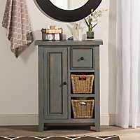 Nordic Blue Two Shelf Cabinet