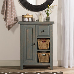 Nordic Blue Two Shelf Cabinet