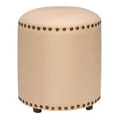 Cream Laura Backless Vanity Stool