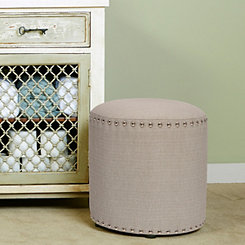 Gray Laura Backless Vanity Stool