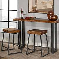Emerson Console Table and Counter Stools, Set of 3