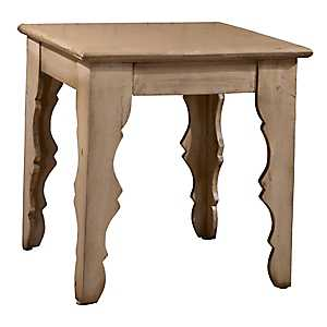 Distressed Antique White Keegan End Table