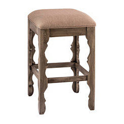 Graywash Carrara Backless Bar Stool