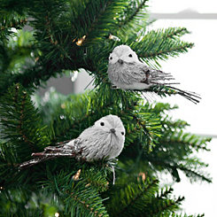 Gray Bird Clips, Set of 2