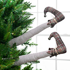 Brown Plaid Elf Leg Picks, Set of 2