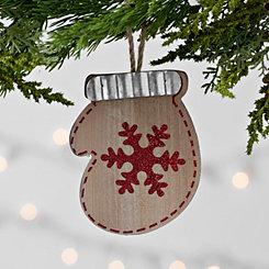 Wooden Mitten Ornament