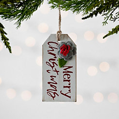 Merry Christmas Tag Ornament