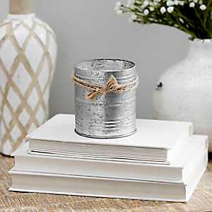 Balsam and Cedar Galvanized Tin Candle