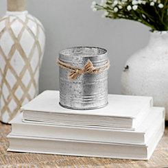 Balsam and Cedar Galvanized Tin Candle