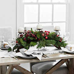 Pine and Ornaments Arch Centerpiece
