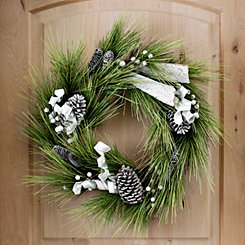 White Pine and Birch Wreath