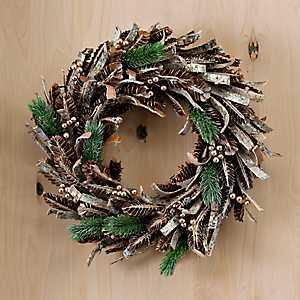 Golden Cedar and Pine Cones Wreath