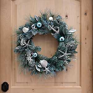 Seashells and Pine Coastal Wreath